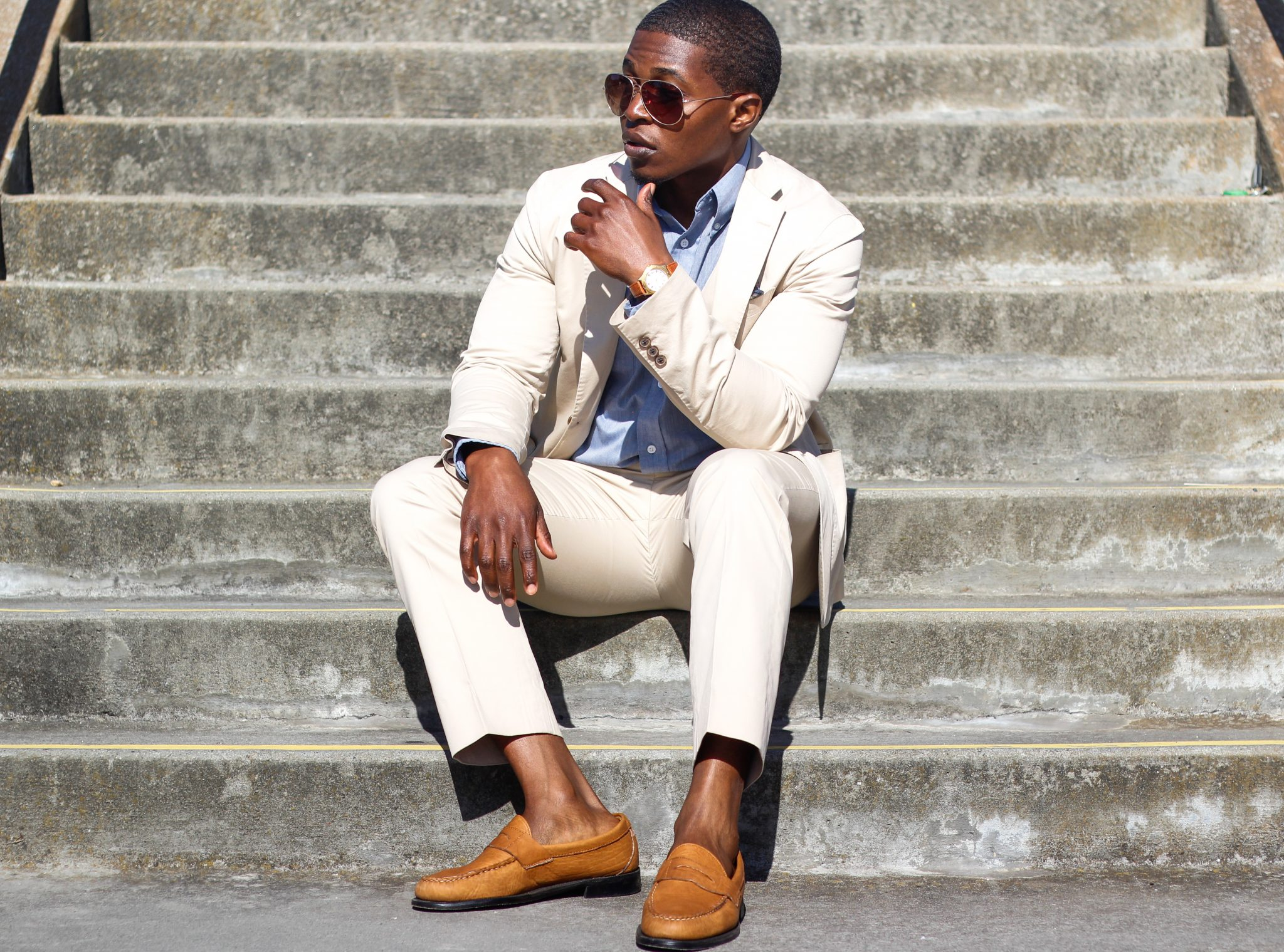 3 Ways To Wear A Khaki Cotton Suit