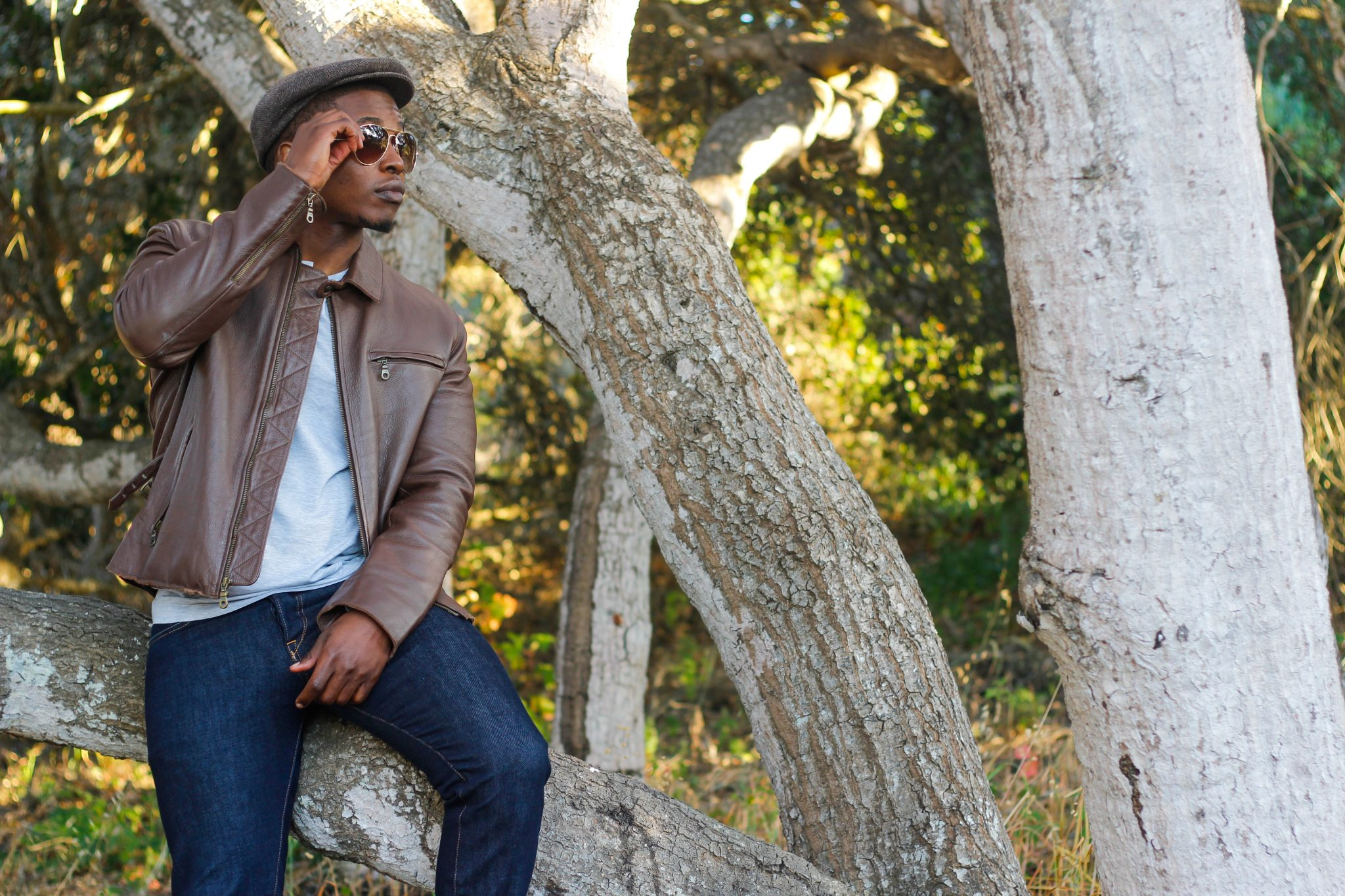 Akil McLeod Dapper Advisor Sebago Chelsea Boots Leather Jacket Denim 2