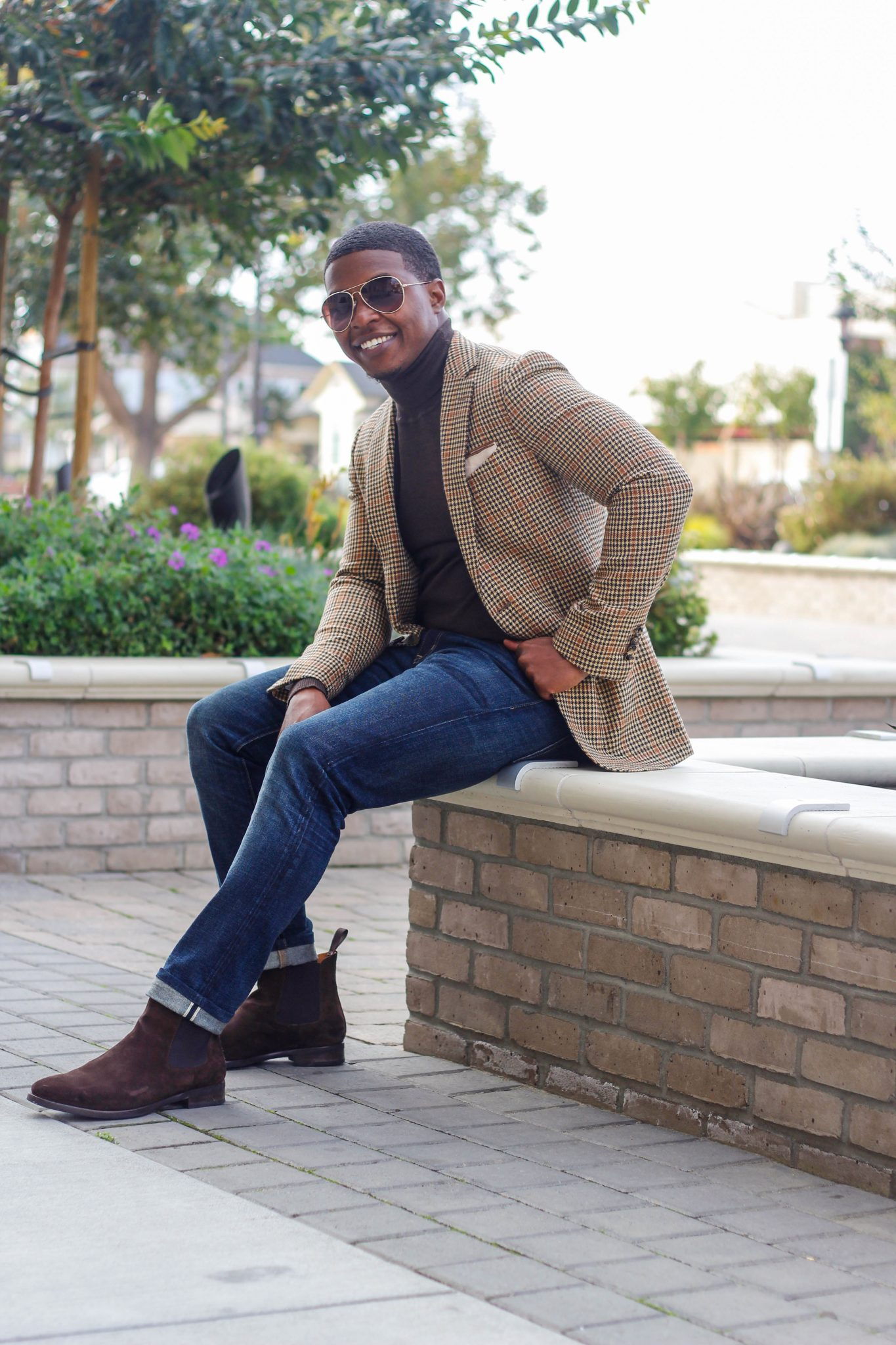 Dapper-Advisor-Akil-McLeod-black-man-african-american-chelsea-boots-brown-suit-supply-blazer-smile
