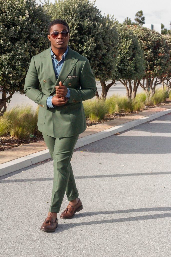 The Dapper Advisor - Green Suit Denim Shirt