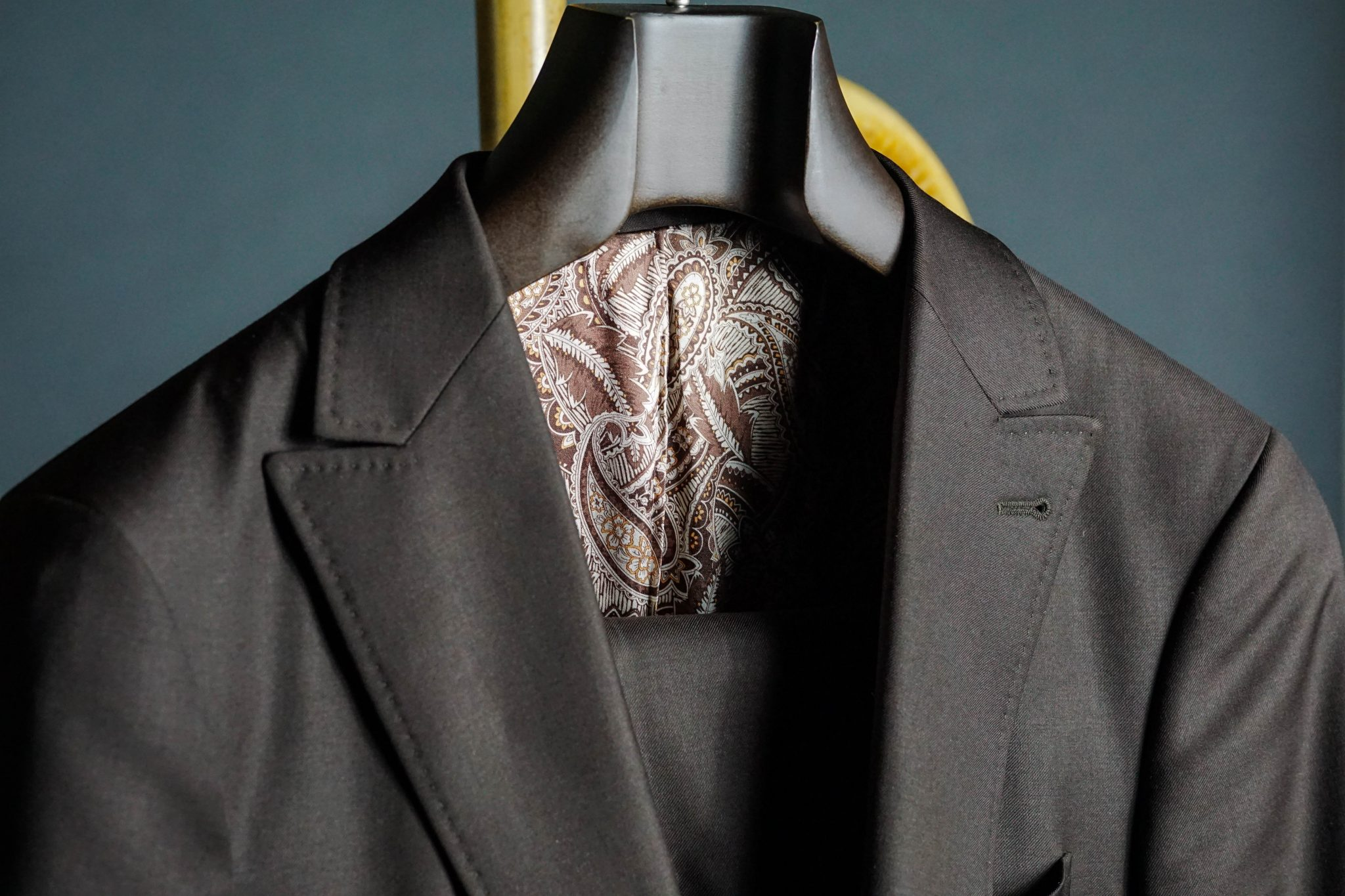 Butler-Luxury-Hangers-Review-bureau-custom-brown-suit