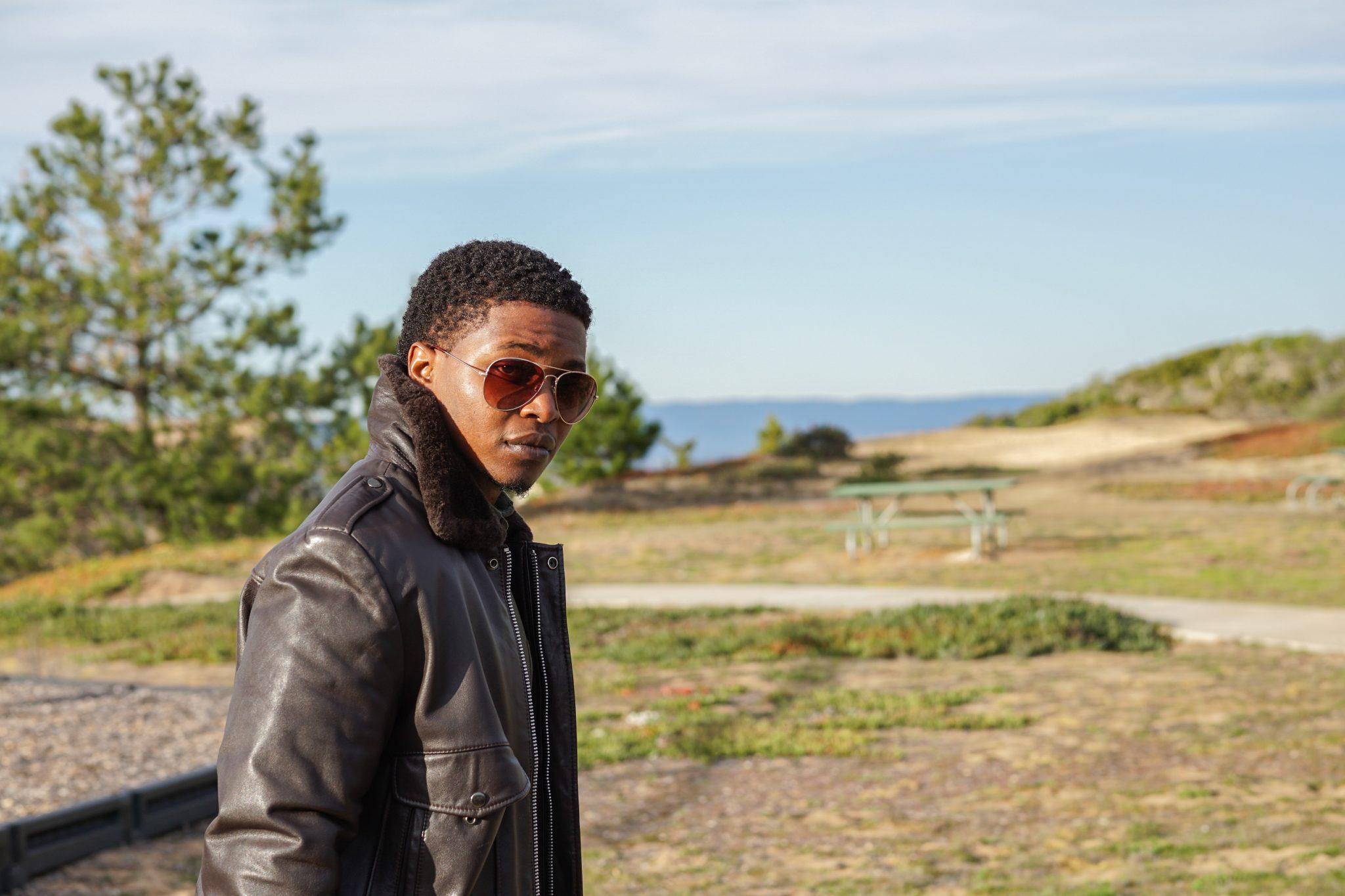 Dapper Advisor Akil McLeod Brown vintage leather bomber jacket winter wardrobe