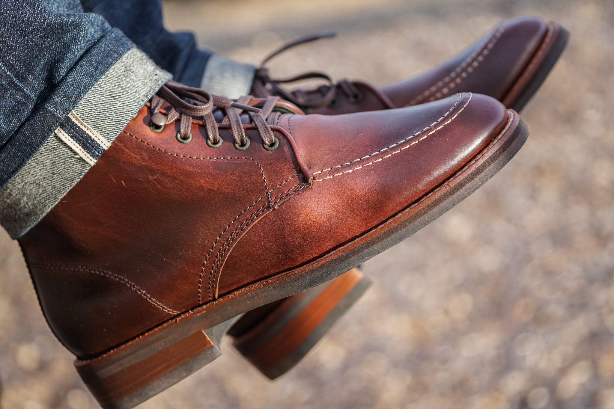 Dapper Advisor Akil McLeod Brown Diplomat Thursday Boots selvedge denim jeans 2