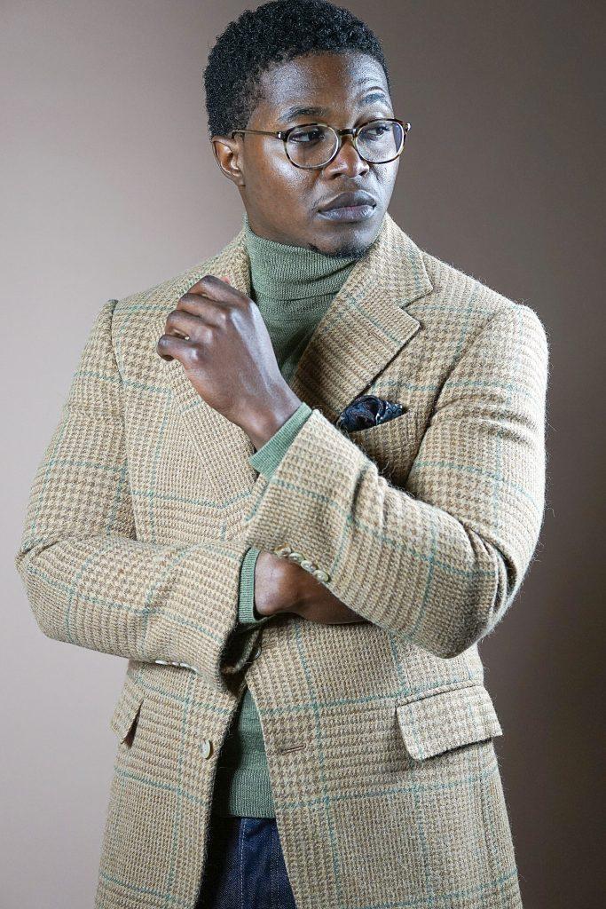 christmas-dapper-advisor-black-man-green-turtleneck-ralph-lauren-alpaca-cashmere-blazer