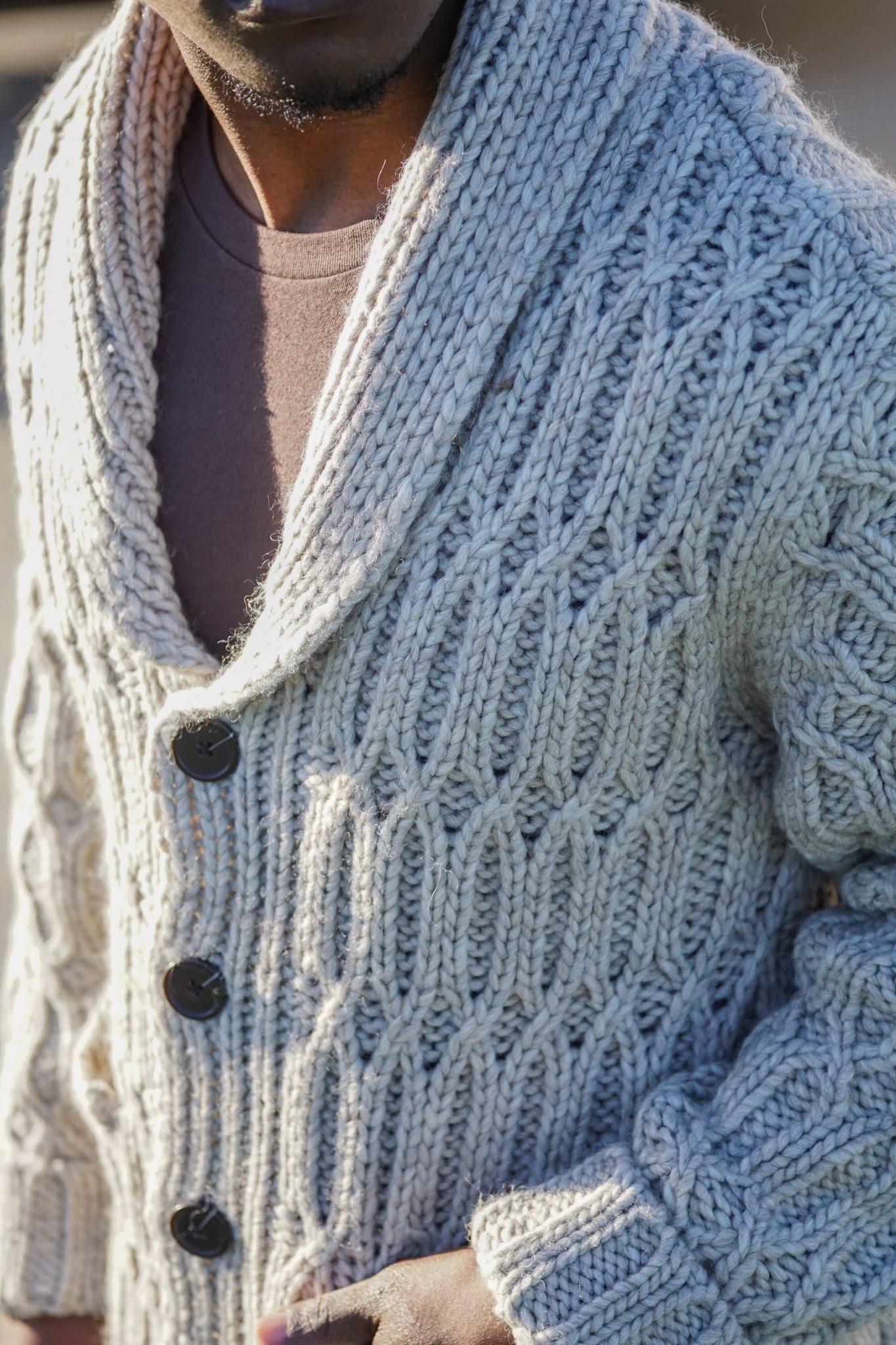 dapper-advisor-wearing-chunky-knit-sweater-cardigan-jack-threads-black-man