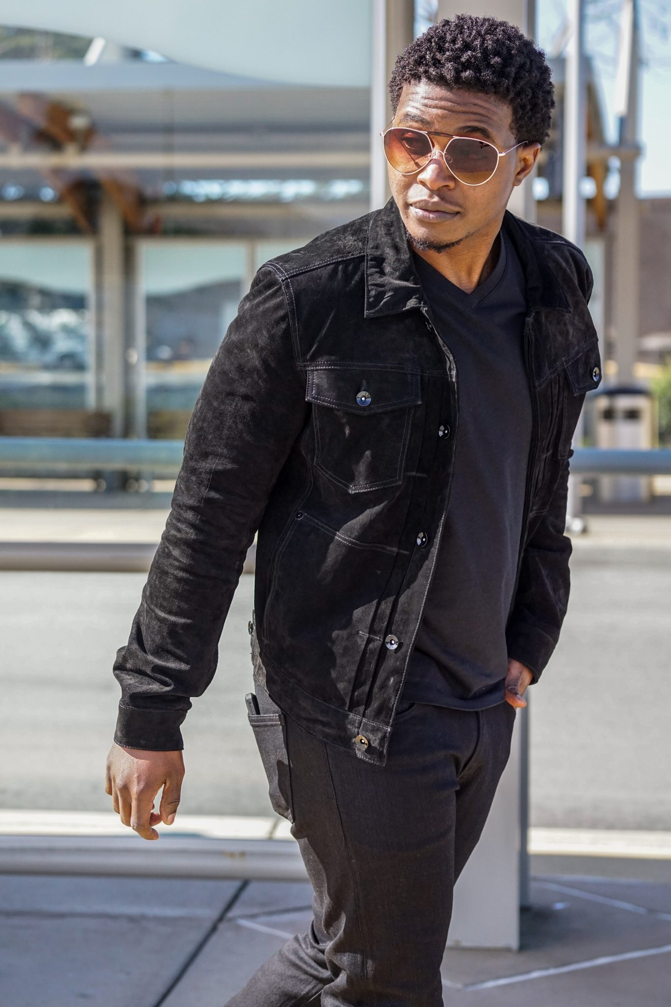dapper-advisor-black-man-wearing-black-jack-threads-suede-leather-jacket-all-black-outfit-mens-2