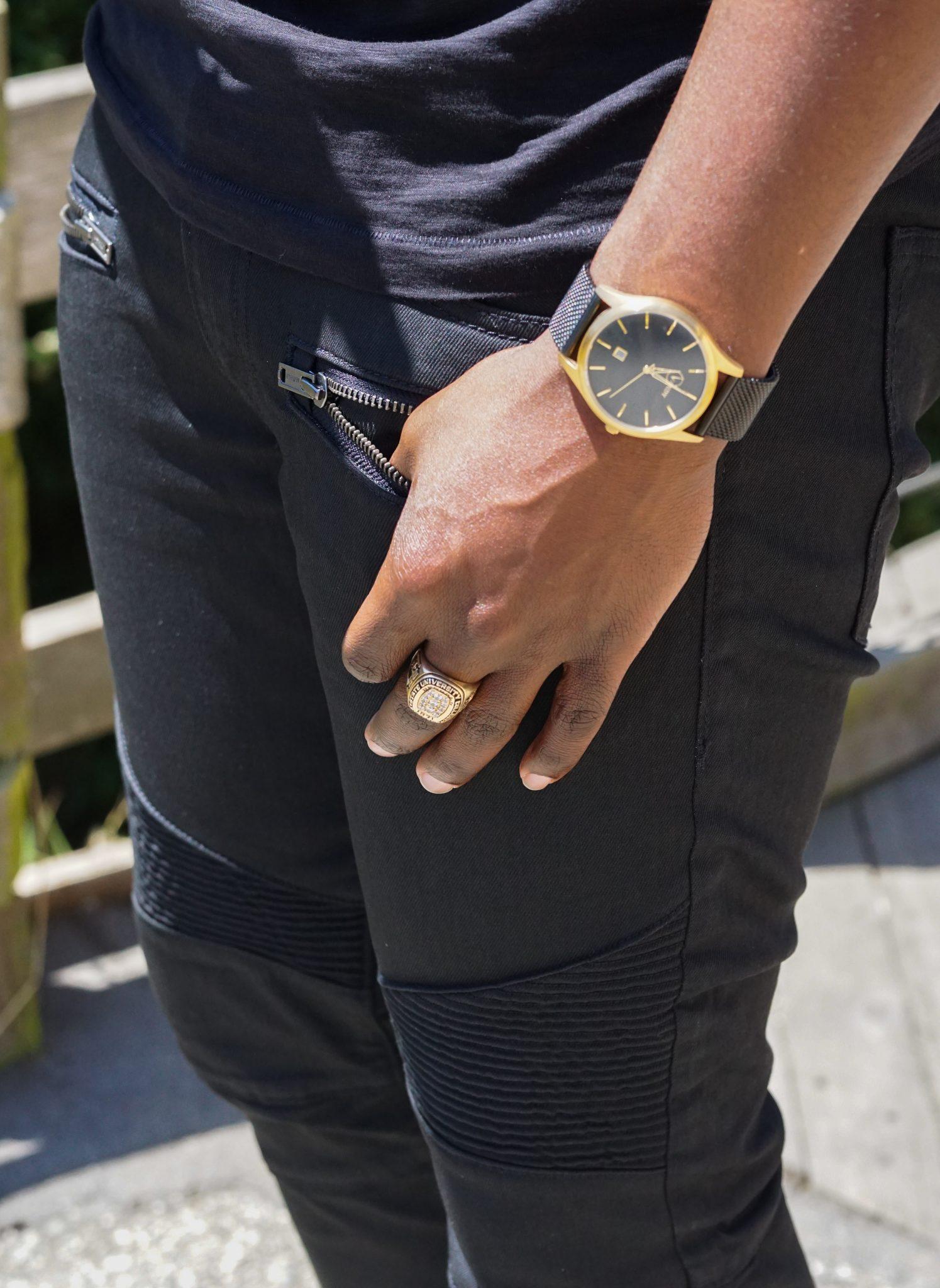 dapper advisor-express-black slim moto jeans-supersoft henley shirt